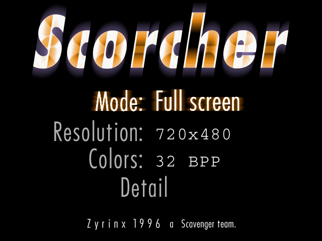 640x480 Scorcher Reviver (graphics menu, custom resolutions)